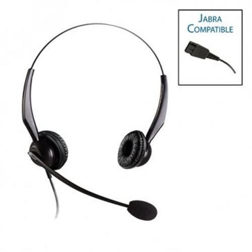 Armor TelPro 2200-J Double-Ear NC Jabra Compatible Headset (TPH-2200B-J)