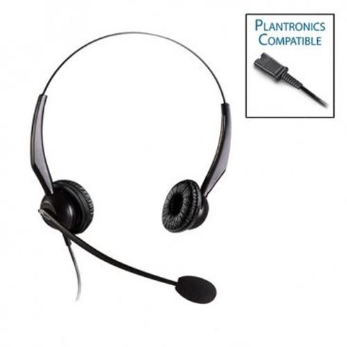 Armor TelPro 2200-P Double-Ear NC Plantronics Compatible Headset (TPH-2200B-P)