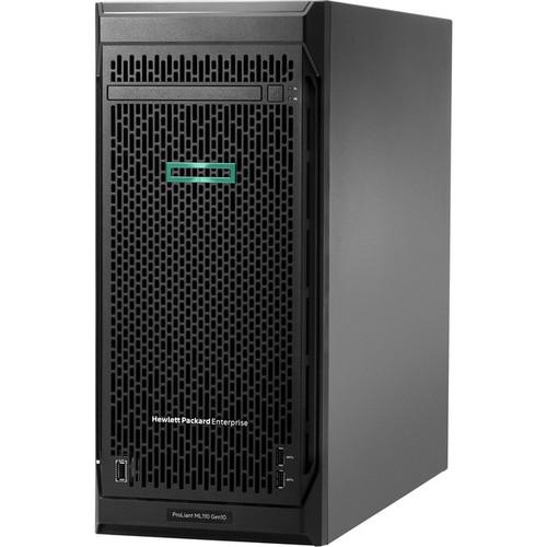 HPE ProLiant ML110 G10 4.5U Tower Server - 1 x Intel Xeon Bronze 3206R 1.90 GHz - 16 GB RAM HDD SSD - Serial ATA/600 Controller P21439-001