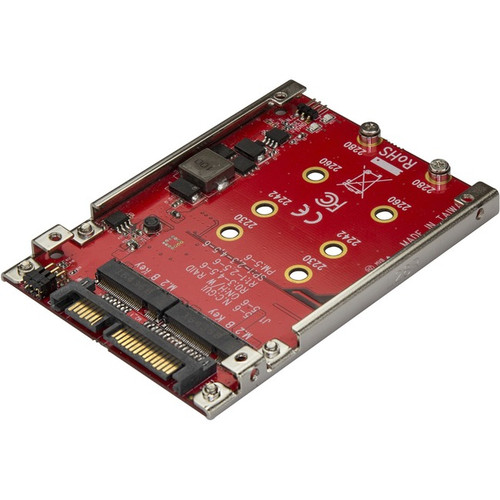 """StarTech.com Dual-Slot M.2 to SATA Adapter - M.2 SATA Adapter for 2.5"""" Drive Bay - M.2 Adapter - M.2 SSD Adapter - M.2 NGFF SSD Adapter - RAID S322M225R"""