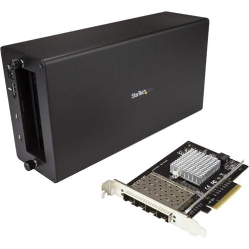 StarTech.com Thunderbolt 3 to 10GbE Fiber Network Chassis - External enclosure - 4 Open SFP+ Ports BNDTB410GSFP