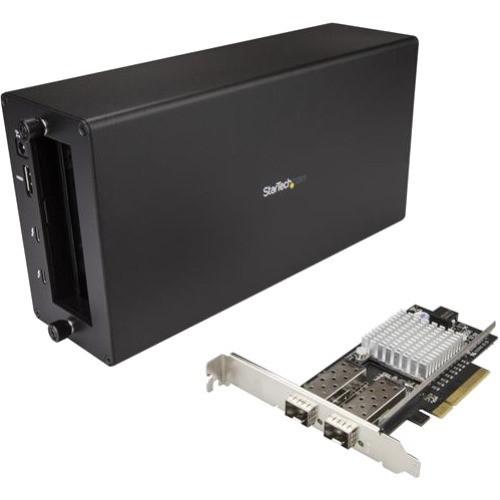 StarTech.com Thunderbolt 3 to 10GbE Fiber Network Chassis - External PCIe enclosure - 2 Open SFP+ Ports BNDTB210GSFP