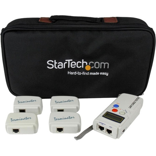 StarTech.com Professional RJ45 Network Cable Tester with 4 Remote Loopback Plugs - LAN Cable Tester Professional - Network testing device - Token Ring LANTESTPRO