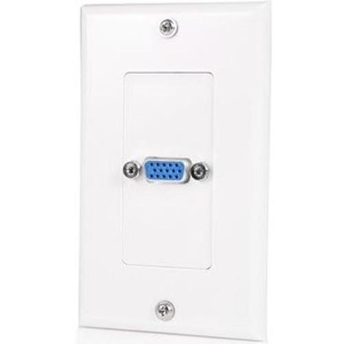 StarTech.com Single Outlet 15-Pin Female VGA Wall Plate - White VGAPLATE