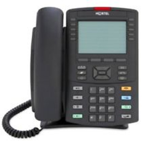 Nortel 1230 IP Desk Phone - Charcoal - English Buttons - Refurbished