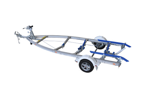 Move alloy boat trailer - 1400kg 4.9m - 5.3m skid style