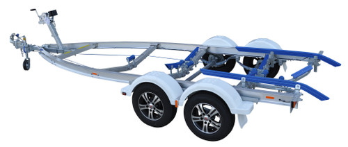 Move alloy boat trailer - 1595kg 5.3m - 5.7m dual axle skid style