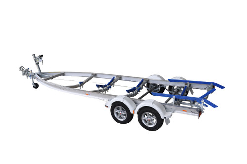 Move alloy boat trailer - 2000kg 5.7m - 6.1m dual axle skid style