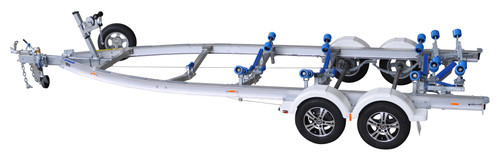 Move alloy boat trailer - 2000kg 6.4m - 6.65m dual axle roller style