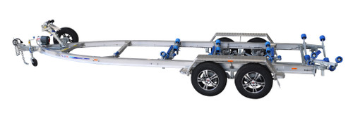 Move alloy boat trailer - 2600kg 6.7m - 7.0m dual axle roller style