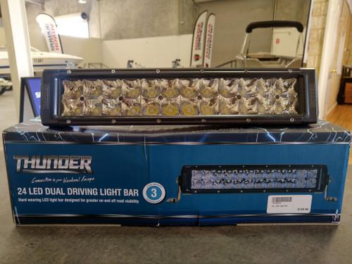 THUNDER LED DRIVING LIGHT BAR 24 LED DUAL ROW