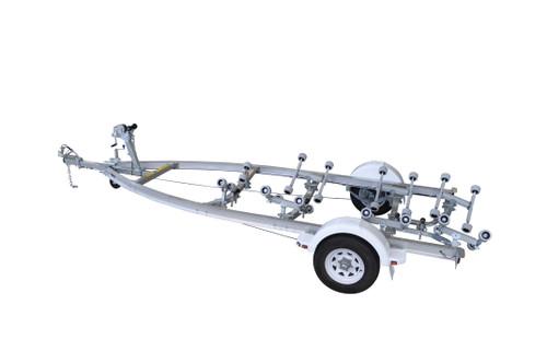 Move alloy boat trailer - 1298kg 4.8 - 5.2m roller style - Fibreglass boats