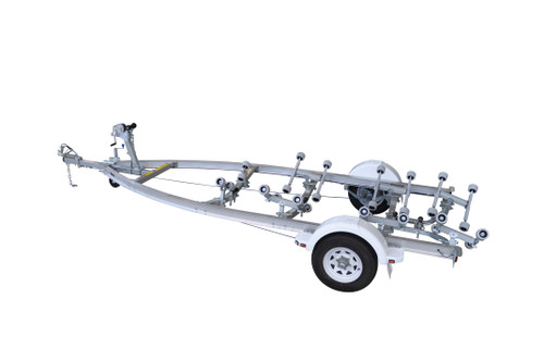 Move alloy boat trailer - 1750kg 5.3 - 5.9m roller style - Fibreglass boats