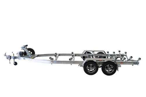 "Move alloy boat trailer - 2600kg Tandem 14"" 6.0 - 7.0m roller style - Fibreglass boats"