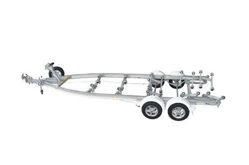 "Move alloy boat trailer - 1850kg Tandem 13"" 5.3 - 5.9m roller style - Fibreglass boats"