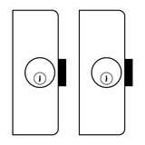 Cendrex 2 x Mortise Dead Bolt and Cylinder with Key - Standard