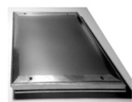 Karp 18 x 18 Recessed 1/8 for Tile - Smooth Aluminum Floor Access Panel - Karp