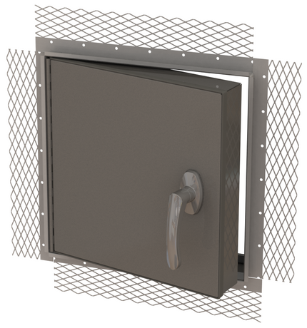 JL Industries 12 x 12 Stainless Steel Weather-Resistant Exterior Access Panel For Plaster And Stucco - JL Industries