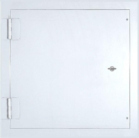 JL Industries 12 x 12 Flat Frame 10 Gauge Steel Security with Detention Deadlock Access Panel - JL Industries