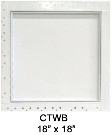 18 x 18 Concealed Frame Flush Access Panel - Wallboard Insert