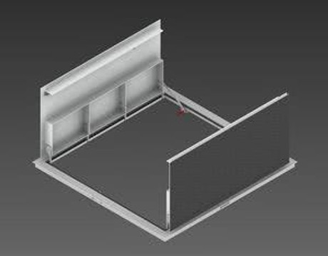 Milcor 40 x 40 - Flush Cover Security - Steel, Prime Painted
