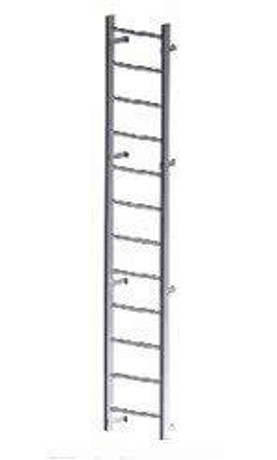 Acudor 60 Aluminum Wall Mounted Ladder