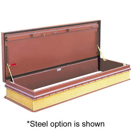 Bilco 30 x 96 - Service Stair Access Roof Hatch - Alum Cover with Steel Frame