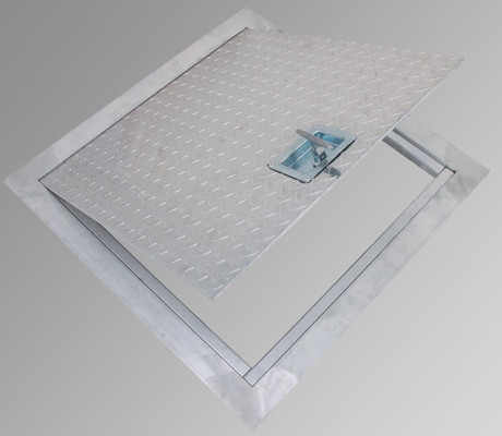 Cendrex 24 x 24 Flush Aluminum Floor Hatch - Cendrex
