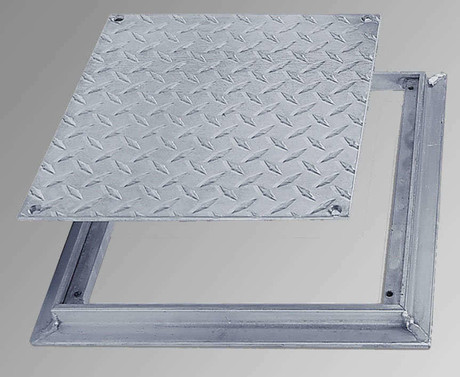 Acudor 24 x 24 removable Flush Floor Door - Diamond Plate - Acudor