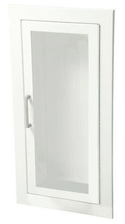 JL Industries Ambassador - Steel Fire Extinguisher Cabinet - 3 Rolled - Full Glass with SAF-T-LOK with Pull Handle