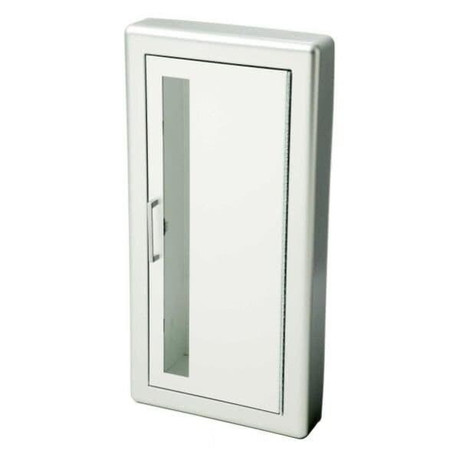 JL Industries FX Academy - Aluminum Fire Extinguisher Cabinet - Flat Trim - Solid with Pull Handle