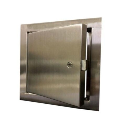 Acudor 18 x 18 Fire Rated Un-Insulated Access Door with Flange - Stainless Steel - Acudor