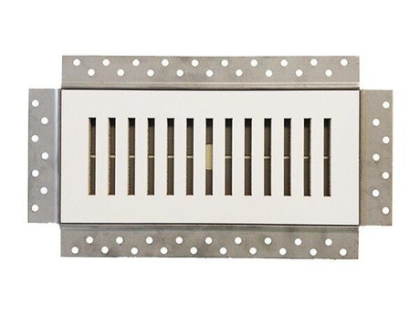 DGM Enterprises 4 x 10 Premium Flush Mounted Vent and Grille Cover - Removable Wall and Ceiling Vent