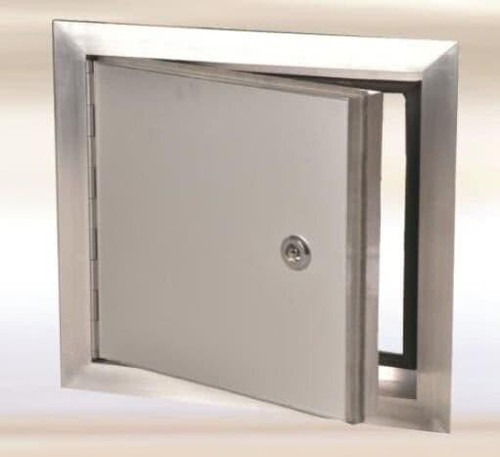 FF Systems .8 x .8 Exterior Access Panel - with piano hinge Aluminum