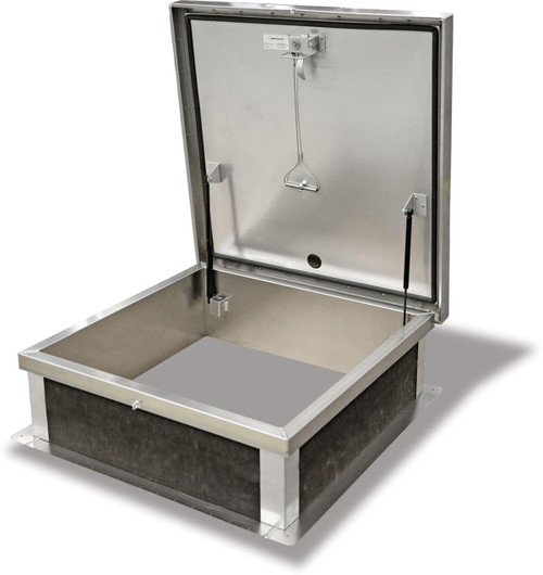 Acudor 24 x 24 Galv Steel Roof Access Hatch, Grey Baked Enamel Polyester