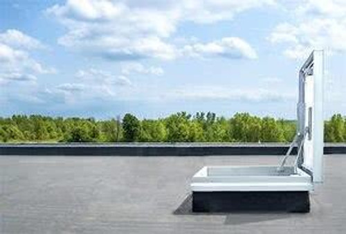 Milcor 30 x 30 - EE Single Leaf Roof Hatch - Galvanized Steel Cover and Curb