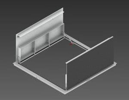Milcor 310 x 310 - Flush Cover Security - Steel, Prime Painted