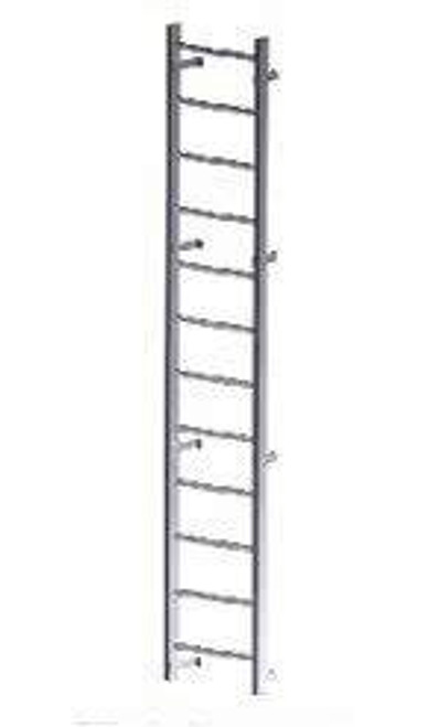 Acudor 80 Aluminum Wall Mounted Ladder