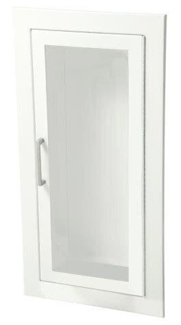 JL Industries Ambassador - Steel Fire Extinguisher Cabinet - Flat 3/8 Trim - Full Glass with Pull Handle