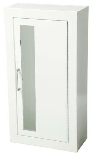 JL Industries Ambassador Steel Fire Extinguisher Cabinet - Flat 3/8 Trim - Vertical Duo with Pull Handle