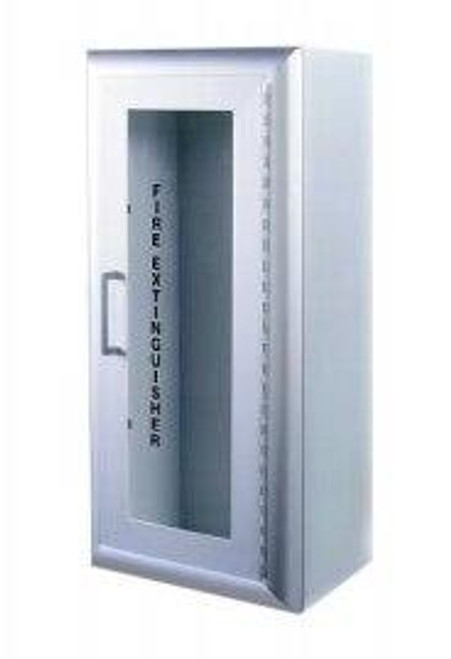 JL Industries Academy - Aluminum Fire Extinguisher Cabinet - Surface Mount - Flush With Pull Handle