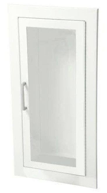 JL Industries Ambassador - Steel Fire Extinguisher Cabinet - Flat Trim - Vertical Duo with SAF-T-LOK with Pull Handle