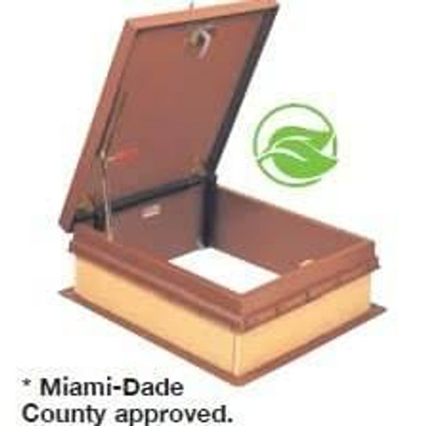 Bilco 36 x 30 - Steel Roof Hatch - Ladder Access - Miami-Dade Approved