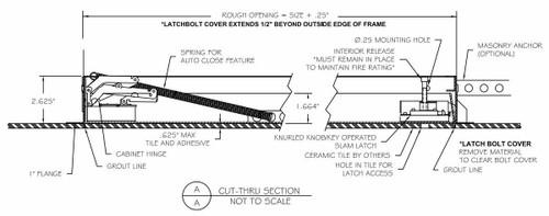 Babcock Davis 18 x 18 Exposed Flange Tile Ready Access Door