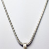 Sterling Silver Snake Chain to wear with BioElectric Shield EMF blocker pendant