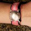 Level 2 BioElectric Shield EMf blocker, EMF Protection bracelet, satin finish with pink ID Band