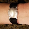 Level 2 BioElectric Shield EMf blocker, EMF Protection bracelet, satin finish Shown on woman's wrist