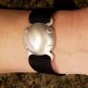 Level 2 BioElectric Shield EMf blocker, EMF Protection bracelet, satin finish Shown on woman's wrist