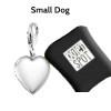 Pet Pet EMf Protection BioElectic Shield  Silver Heart for small dogs under 15 pounds