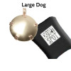 Pet Pet EMf Protection  BioElectic Shield  Round brass for for large dogs over 15 pounds